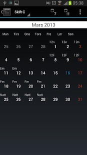 SkiftKalender Pro 2 - screenshot thumbnail