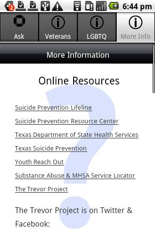 Ask & Prevent Suicide- screenshot