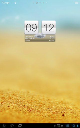 Sense V2 Flip Clock & Weather  screenshots 10