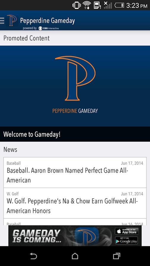Pepperdine Gameday LIVE - screenshot