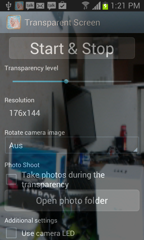 Transparent Screen PRO - screenshot