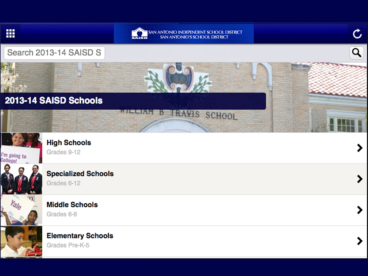 San Antonio ISD - screenshot