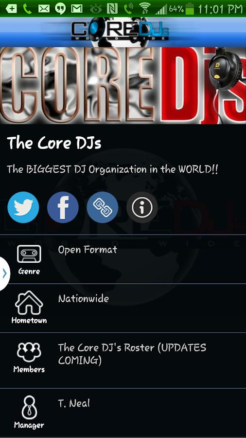 The Official Core DJs - screenshot