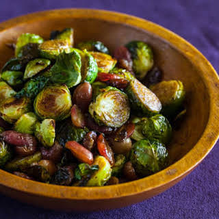 Roasted Brussels Sprouts and Grapes.