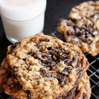 Flourless Peanut Butter Oatmeal Chocolate Chunk Cookies.