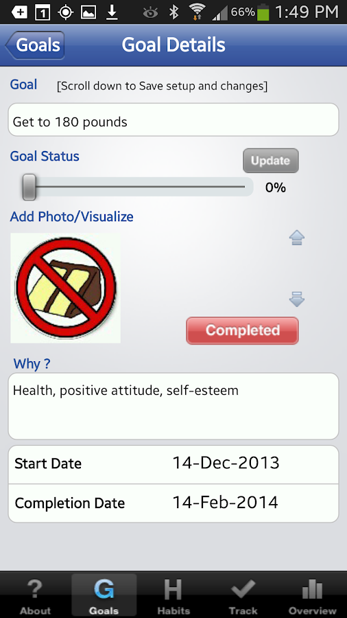 The Habit Factor® Goals,Habits - screenshot