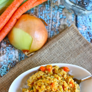 Gingery Red Lentils & Rice.