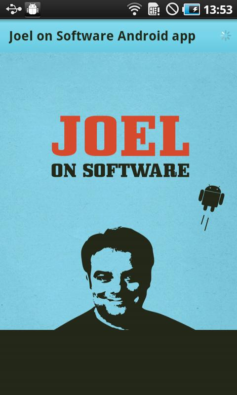 Joel on Software - Android App- screenshot