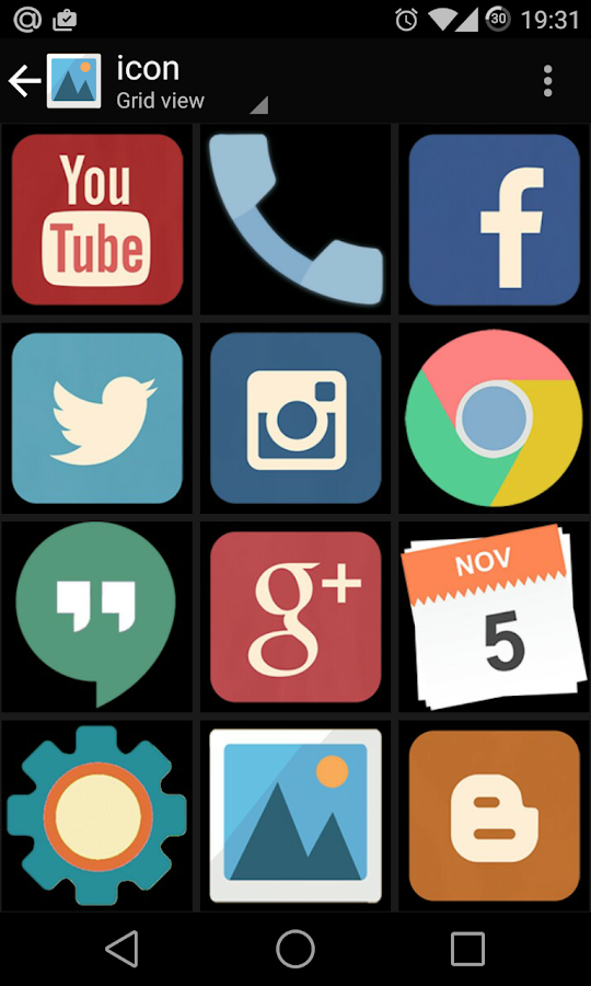 Material Retro Theme CM11 PA  screenshot. Material Retro Theme CM11 PA   Android Apps on Google Play