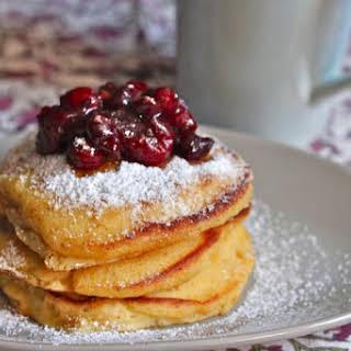 Orange Cranberry Pancakes.