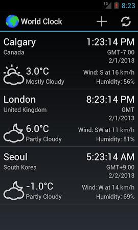 World Clock & Weather Widget 1.8.3 screenshot 530696