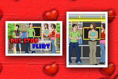 Bus Stop Flirt Game - screenshot
