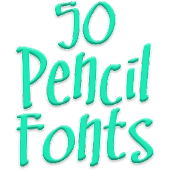 Fonts for FlipFont 50 Pencil