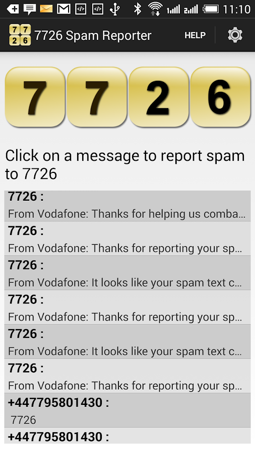 7726 Spam Reporter- screenshot