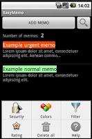 Screenshot of Easy Memo - Protect your memos
