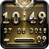 Golden Dream Digital Clock