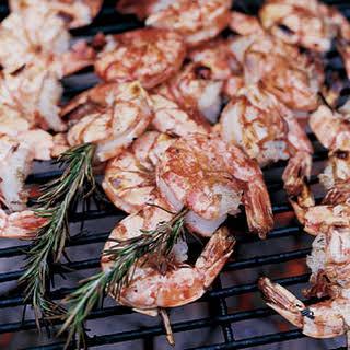Skewered Shrimp.