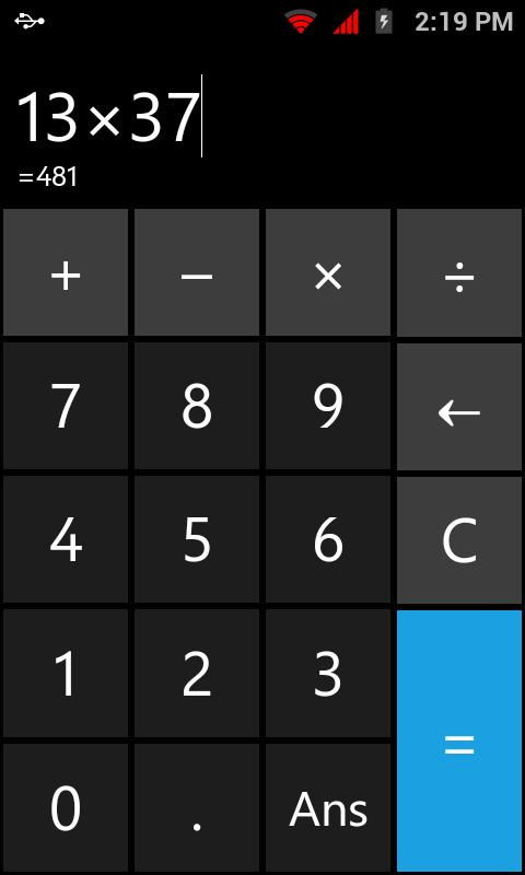 My Basic Calc (Calculator) - screenshot