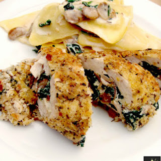 Herb Crusted Stuffed Chicken.