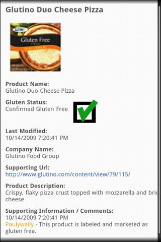 Gluten-free Scanner - screenshot