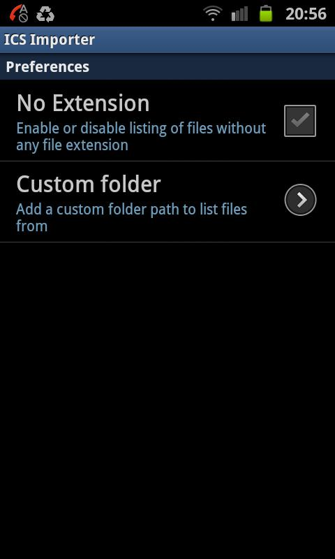ICS Importer - screenshot