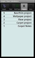 Screenshot of Carpet, Floor Calculators