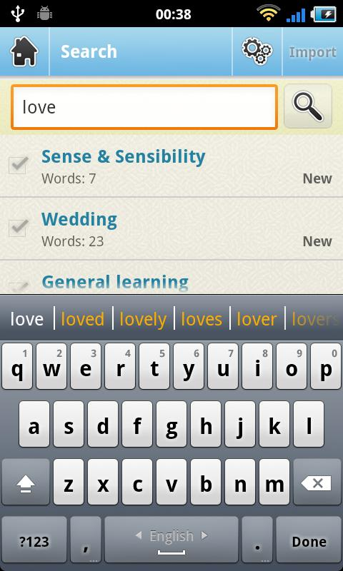 WordSteps Mobile Client - screenshot