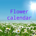 Flower calendar icon