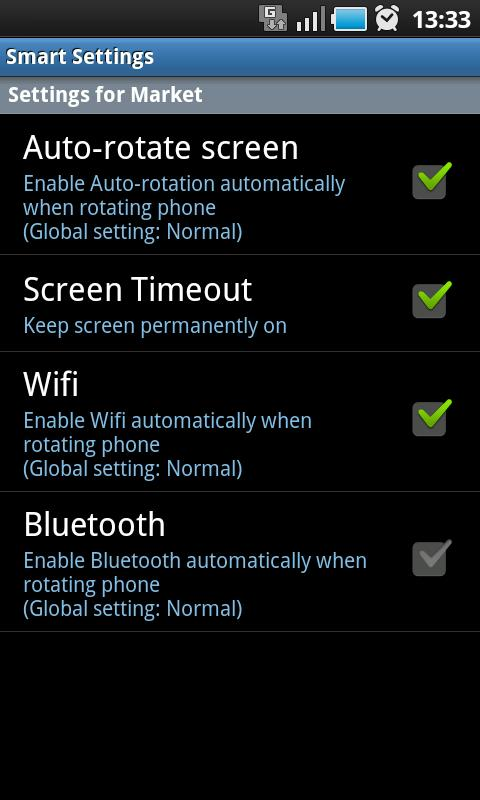 Smart Settings FREE- screenshot