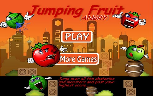 Jumping Angry Fruit