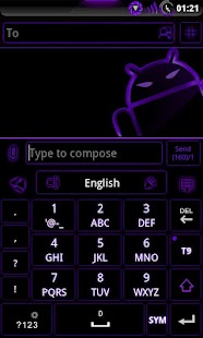 GOKeyboard Theme Glow Purple - screenshot thumbnail
