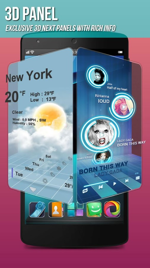 Next Launcher 3D Shell- screenshot