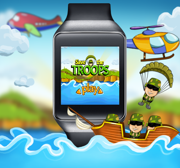 Save The Troops - Android Wear- screenshot