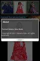 Screenshot of Formal Gowns Idea Book