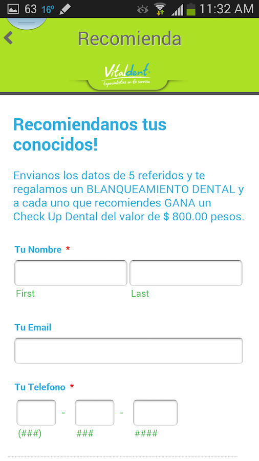 Vitaldentmx- screenshot