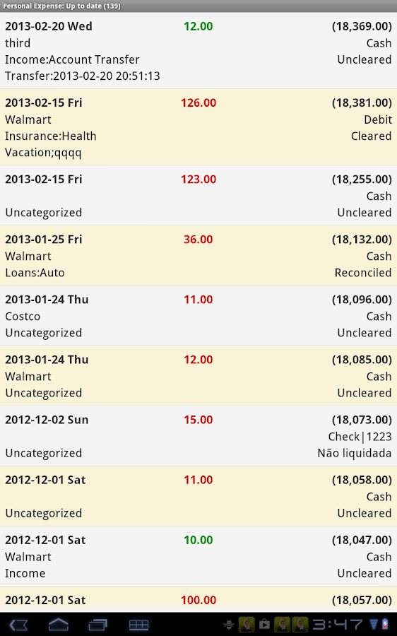 Expense Manager Pro- screenshot