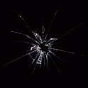 Broken glass screen Joke icon