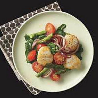 Seared Scallops and Spring Vegetables.
