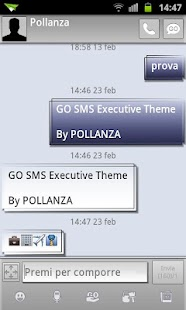 GO SMS Executive Theme - screenshot thumbnail