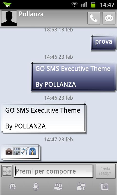 GO SMS Executive Theme - screenshot