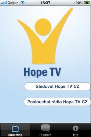 HopeTV CZ - screenshot