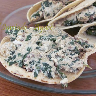 Spinach and Cottage Cheese Tacos.