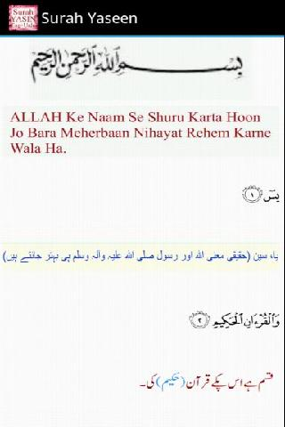 Surah Yaseen with mp3 - screenshot