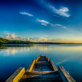 pier by Dugalan Poto - Landscapes Waterscapes ( water, reservoir, central java, cacaban, piers, indonesia, dugalan, pier, tegal,  )