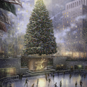 Thomas kinkade NYC Christmas logo