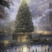 Thomas kinkade NYC Christmas