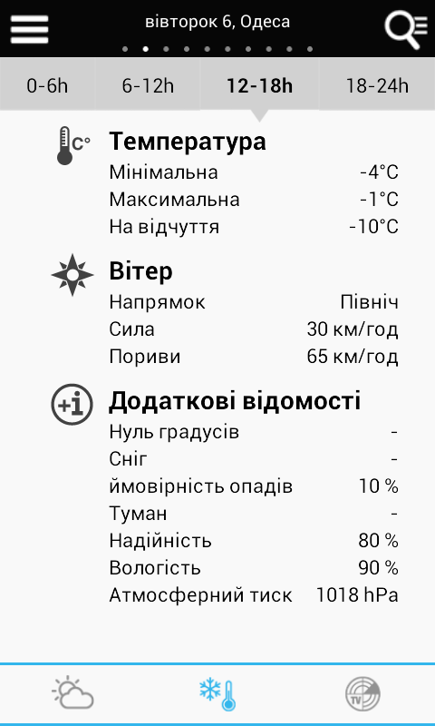 Weather for Ukraine- screenshot