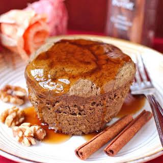 Healthy Single-Serving Pumpkin Buckwheat Microwave Cake.