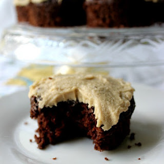 Grandma's Chocolate Mayo Cupcakes & Caramel Frosting