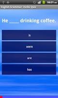 Screenshot of English Grammar: Verbs Free